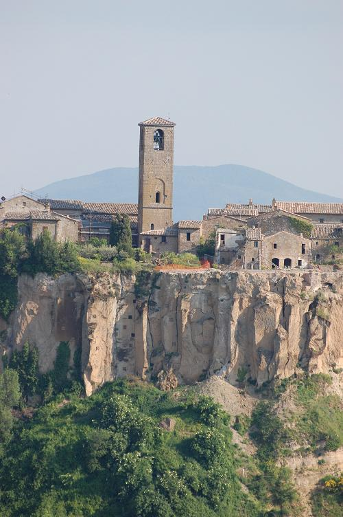 View of Civita from across the valley
