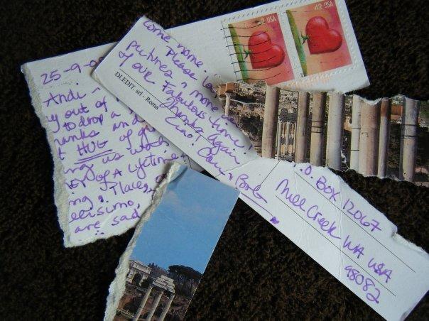 italian postcard mail