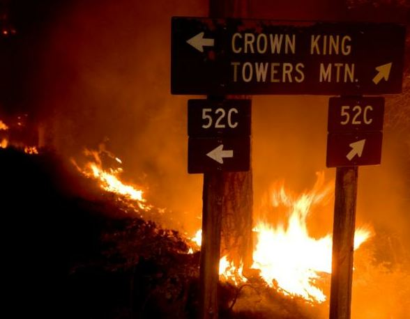 Crown King fire