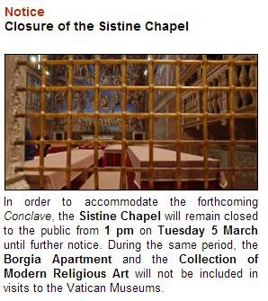 Sistine Chapel Conclave Closure