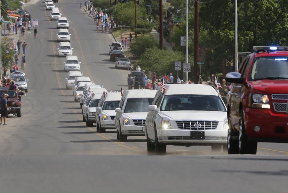 arizona firefighters funeral procession