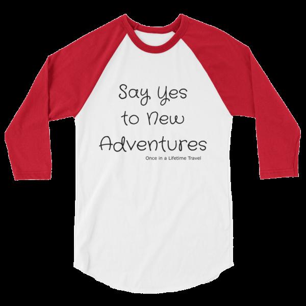3/4 length boyfriend travel shirt