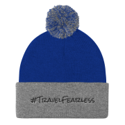 Knit Travel Fearless Pom Pom Hat