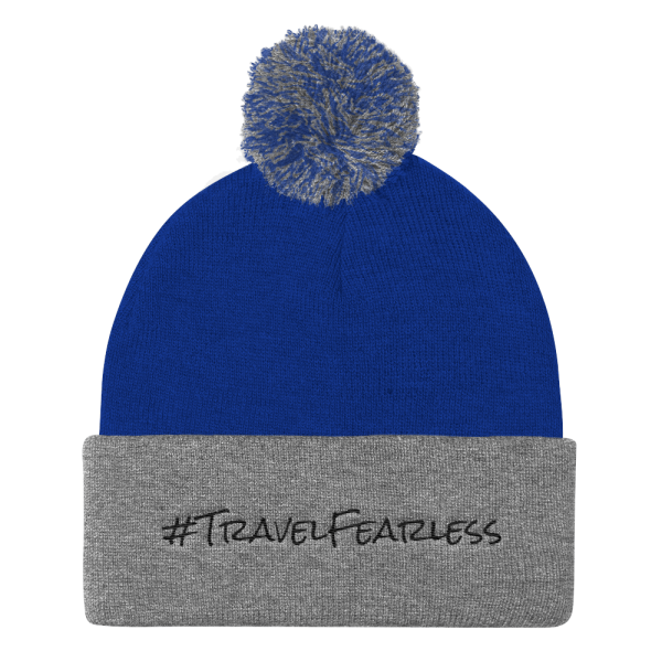 Knit Travel Fearless Pom Pom Hat