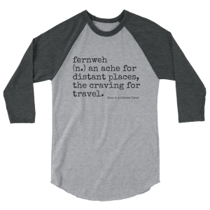 fernweh travel 3/4 length boyfriend shirt