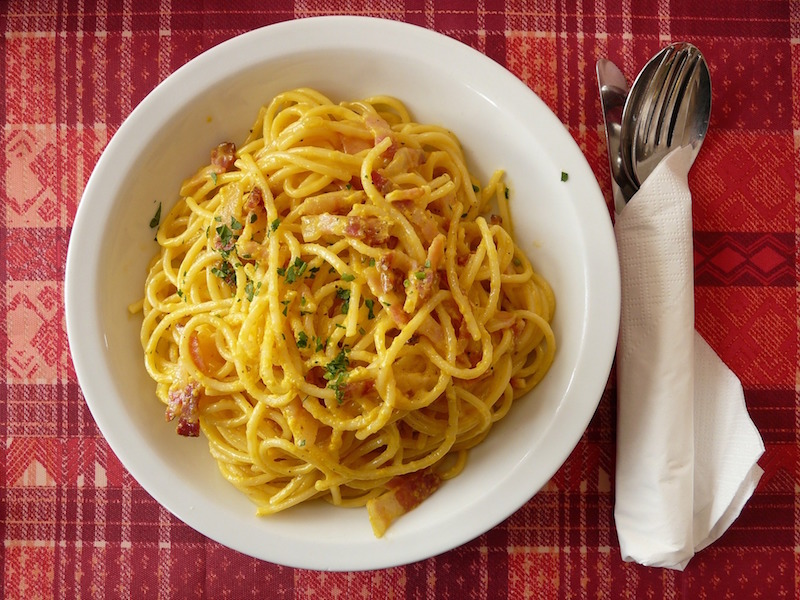local roman dishes pasta carbonara italy travel planning consultant