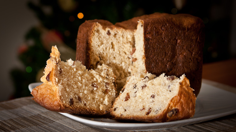 Italian holiday traditions baking dessert panettone
